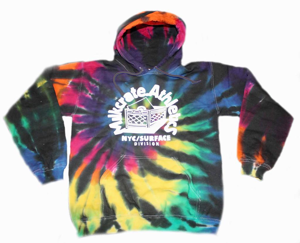 Milkcrate Custom Black Tie Dye Hood