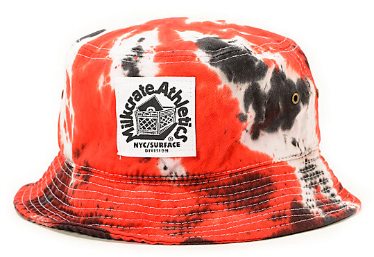 Red Black & White Milkcrate Tie Dye Bucket